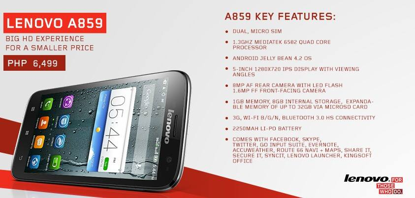 Lenovo A859: reviews, photos, prices and description
