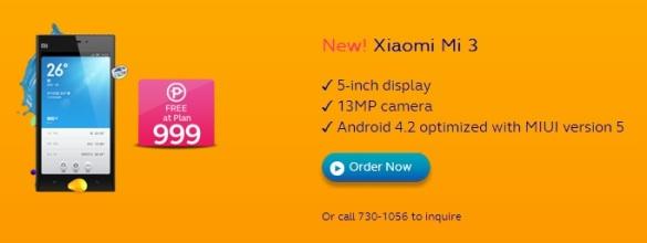 XiaomiMi3onGlobe